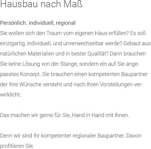 Hausbau: Holzhäuser, Passivhäuser / KfW-Effizienzhäuser aus  Fischbach