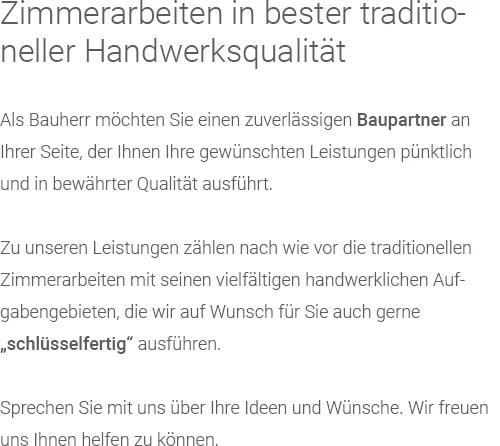 Holzbau (Treppenbau, Gauben) für  Breunigweiler, Börrstadt, Sippersfeld, Standenbühl, Steinbach (Donnersberg), Gonbach, Ramsen oder Jakobsweiler, Dreisen, Neuhemsbach